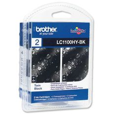 Brother Original LC1100 Twin Pack Ink Black  100% Genuine Brother LC1100 Twin Pack Black Ink Cartridge. For use with the following printers  Brother DCP-385C Brother DCP-395CN Brother DCP-585CW Brother DCP-6690CW Brother MFC-490CW Brother MFC-5490CN Brother MFC-5890CN Brother MFC-6490 Brother MFC-6490CW Brother MFC-6890CDW Brother MFC-790CW Brother MFC-795CW Brother MFC-990CW