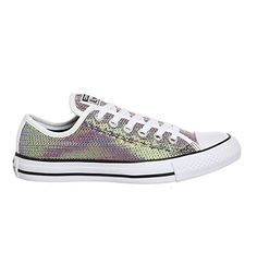 Converse Converse All Star Low Orange Bitters White Black Sequin Exclusive  - Unisex Sports