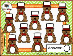 Groundhog Day Games for the SMARTBoard - FREEBIE!!!