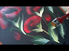 One Stroke Painting- Tutorial 8 How to paint half/folded flowers with 3d effect - YouTube