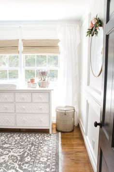 Home Decor An All White Nursery Makeover Room Reveal With Clic Vintage Style Furniture Anthropologie