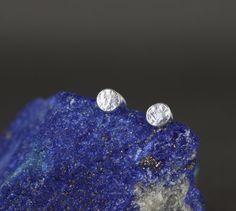Minimalist silver earrings. Small stud earrings. Little sterling silver studs. Delicate jewellery. Dainty earrings. Handmade jewellery. Gifts that give back. Simple jewellery.