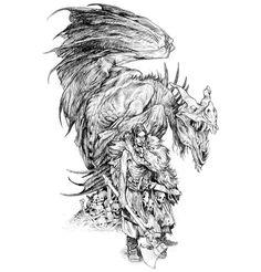 Wildfolk warrior and Thornbeast