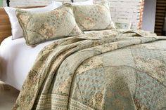 Amazon.com: Retro Floral Stitching Pastoral Style Patchwork Bedspread/Quilt Sets…