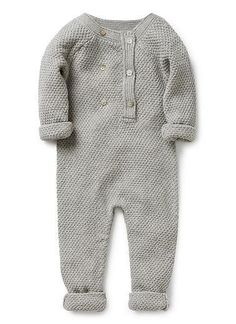 A sweet minimalist jumpsuit for your little babe. // Perfect gift for a new mom.