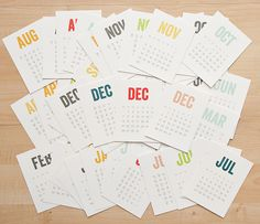 Calendar Cards by Hello Forever