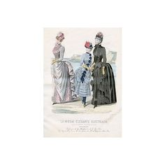 Vintage Clip Art Victorian Fashions French ❤ liked on Polyvore featuring women