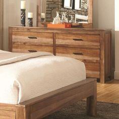 Coaster Peyton 6 Drawer Dresser with Rustic Hardware - Coaster Fine Furniture