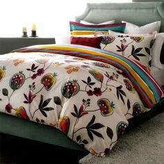 Eden 3 Piece Reversible Duvet Cover Set