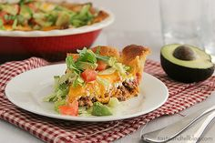 Taco Crescent Pie   Taste and Tell