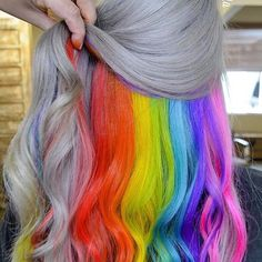 WEBSTA @ trippycohair - Such a unique greynbow check out trippyco.com to find your own pot of gold