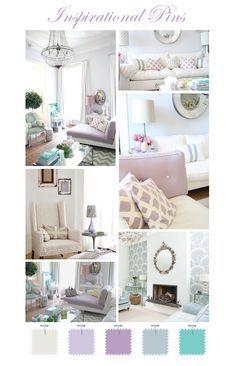 Lavender duck egg mint white color scheme interior ideas