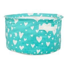 Love Struck Organic Floor Bin (Aqua) | The Land of Nod