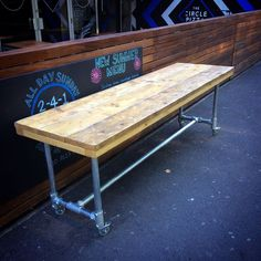 Handmade Reclaimed Urban Scaffold Board Plank Industrial Desk Table Workstation in Home, Furniture & DIY, Furniture, Tables | eBay