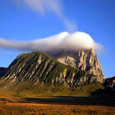 Soft cloud over Gran Sasso d'Italia, Abruzzo, Italy