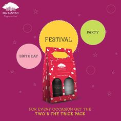 What are you celebrating? #Twosthetrick our gift pack is available at a store near you: http://bit.ly/1Lo4HZL
