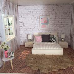 Lundby dollhouse renovation, DIY miniatures, lundby smaland makeover Instagram @onebrownbear