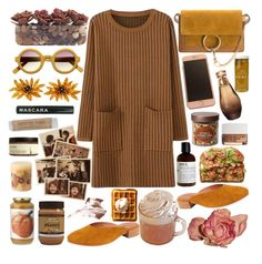 """Tea with cinnamon in your eyes"" by anna-modestovna ❤ liked on Polyvore featuring Le Labo, Williams-Sonoma, Target, John-Richard, Tiffany & Co., Bobbi Brown Cosmetics, Bee Raw Honey, Chloé, Jeffrey Campbell and Rosy Rings"
