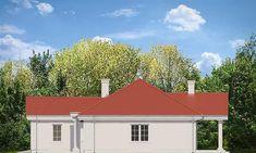 Elewacja prawa projektu Dom na Parkowej 2 Small Villa, Outdoor Decor, Home Decor, Decoration Home, Room Decor, Home Interior Design, Home Decoration, Interior Design