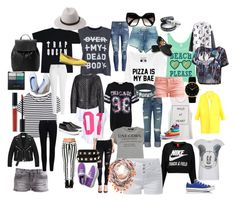 """""""casual style"""" by elenilor on Polyvore featuring Enza Costa, Cheap Monday, Paul & Joe Sister, NIKE, H&M, Frame Denim, Paige Denim, True Religion, Yves Saint Laurent and Raey"""