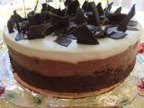 Recipe Triple chocolate mousse cake