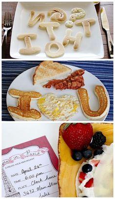 Fun ideas for breakfast in bed