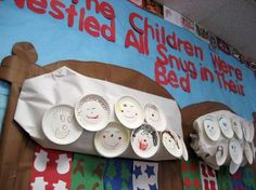 Christmas Literacy and Poetry Bulletin Board Idea