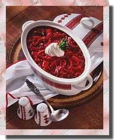 Slow Cooker Russian Borscht (would probably omit beef) Beet Borscht, Borscht Recipe, Borscht Soup, Beet Soup, Soup And Salad, Slow Cooker Soup, Slow Cooker Recipes, Crockpot Recipes, Ukrainian Recipes