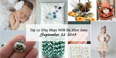 Here are the TOP 10 Etsy sellers with the most sales from September 22, 2015. These numbers are...