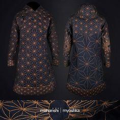 Maharishi / Myoshka collaboration  #myoshka #maharishi #tibetan #coat #asanoha #sashiko #embroidery #sacredgeometry