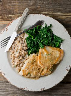 This is one of my favorite cooking blogs. Her recipes are fantastic and really easy to make. This one is chicken with a butter white wine sauce.