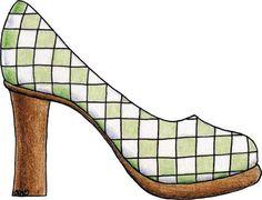 by Isabel Vera Retro Chic, Applique Patterns, Quilt Patterns, Shoe Template, Pattern Coloring Pages, Decoupage Art, Shoe Art, Art Shoes, Cute Images