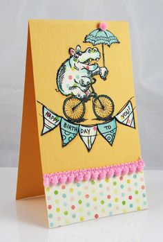 Hippo Birthday to you! by Pam Hornschu, featuring images from Stampendous.