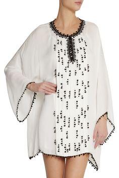 Oscar de la Renta | Embellished silk kaftan | NET-A-PORTER.COM