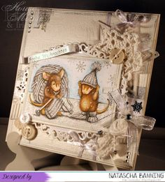 Natasha's Blog: House Mouse and Friends # 206 Mid Way Reminder featuring the Knit Gift image from Stampendous. #Stampendous #HouseMouseDesigns