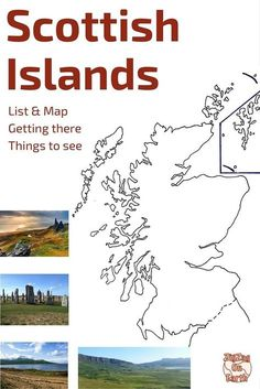 Discover 24 of the main Scottish islands to help you plan your trip to Scotland: Skye, Arran, Orkney, Lewis, Mull.. - map of the isles, how to get there, things to do and see on each island - www.zigzagonearth...