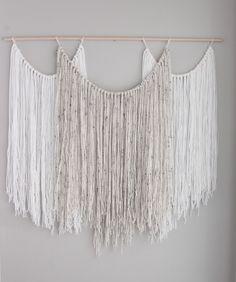 yarn Design On Wood - Large wall hanging tapestry yarn macrame bohemian art. Yarn Wall Art, Yarn Wall Hanging, Diy Wall Art, Tapestry Wall Hanging, Wall Hangings, Hanging Fabric, Tapestry Bedroom, Wall Decor, Diy Wand