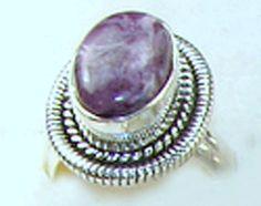 Charoite Sterling Silver Ring Women's Jewelry, Womens Jewelry Rings, Sterling Silver Rings, Great Gifts, Gemstone Rings, Gemstones, Purple, Natural, Beautiful