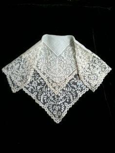 19th C. Carrickmacross Lace Handkerchief