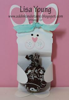 Stampin' Up! Two Tag die Lisa Young Easter Bunny Treat Holder