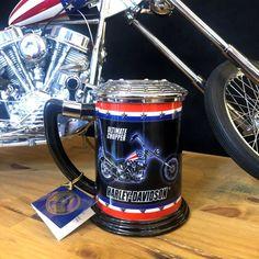 EASY RIDER - HARLEY DAVIDSON - FRANKLIN MINT - Captain America chopper mug Easy Rider, Route 66, Choppers, Conservation, Captain America, Harley Davidson, Franklin Mint, French Press, Film