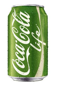 """Green Coke Life Not as Crazy a Move As You Might Think More Coca-Cola """"Life"""" is a stevia-sweetened version of the soft drink that's being tested in Argentina, Chile, and—this fall—the United Kingdom. The soda will eventually launch stateside. Mean Green, Go Green, Green Colors, Pink And Green, Bright Green, Green Eyes, World Of Color, Color Of Life, Stevia"""