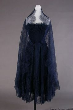 Evening Dress  Cristobal Balenciaga, 1951-1952  The Henry Ford Historic Costume Collection