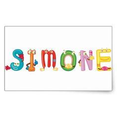 Simone Sticker - craft supplies diy custom design supply special