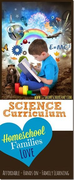 Science Curriculum Families LOVE!  Perfect for all my homeschool kids to use together with simple to understand text, hands on projects, worksheets for older kids and coloring sheets for my young learners! Oh, and it's super affordable too!!