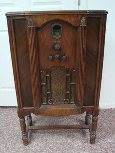 1930 Radio Vintage Love Pinterest Record Player