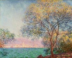 Antibes: Morning by Claude Monet in oil on canvas, done in Now in The Philadephia Museum of Art. Find a fine art print of this Claude Monet painting. Monet Paintings, Impressionist Paintings, Landscape Paintings, Landscapes, Claude Monet, Pierre Auguste Renoir, Artist Monet, Lily Pond, Oil Painting Reproductions