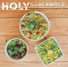 Load up on healthy fats with these three twists on classic guacamole!