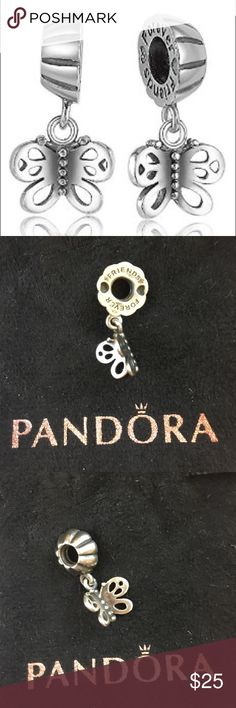 Pandora Friends Forever Butterfly Charm Pandora Friends Forever Butterfly Charm. 100% authentic. Please note I'm only selling one the other half is with a friend Pandora Jewelry Bracelets