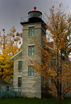 old Sodus Point Lighthouse, New York, on Lake Ontario